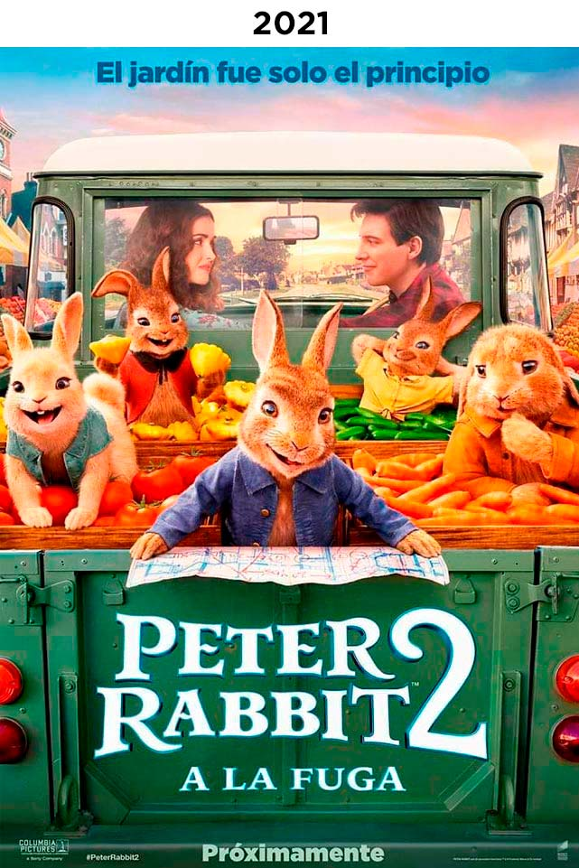 PETER RABBIT CONEJO EN FUGA